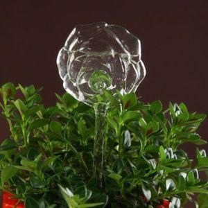 Image 3 - Alimentador de agua automático para plantas y flores, dispositivos de autoriego, alimentador de agua de vidrio transparente, jarrones con forma de pájaro, 6 tipos
