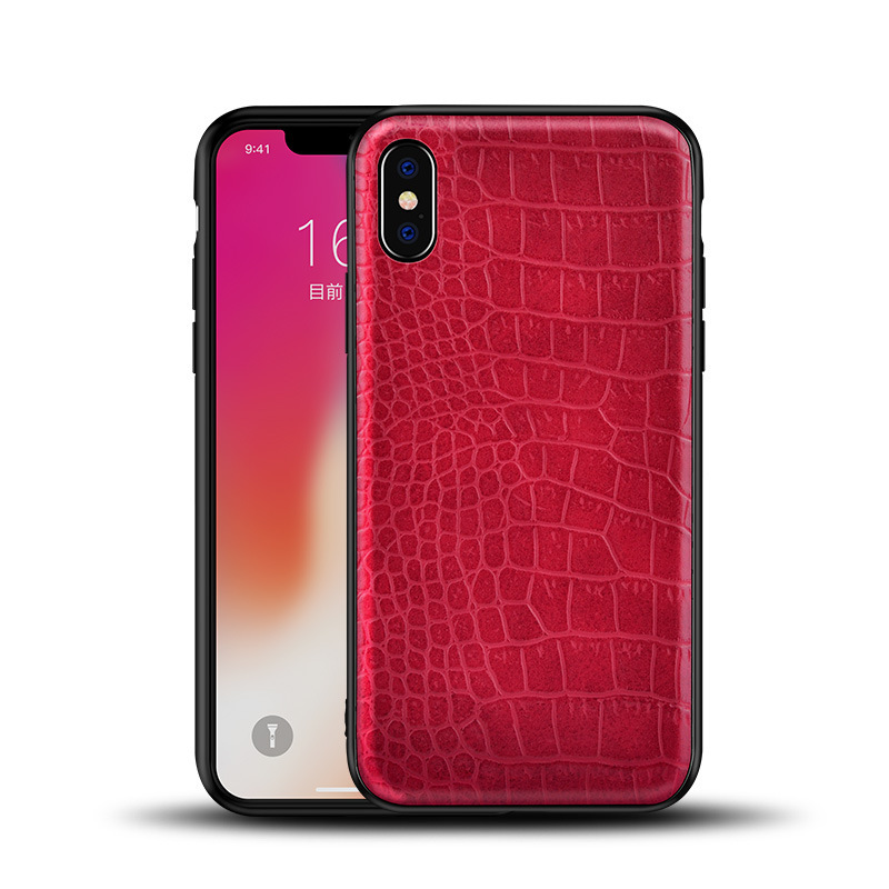 Luxury Crocodile skin Leather Case For iPhone X 8 Plus 7 Plus 6S Plus Case TPU Protective Case For iPhone 7 Phone cover in Fitted Cases from Cellphones Telecommunications