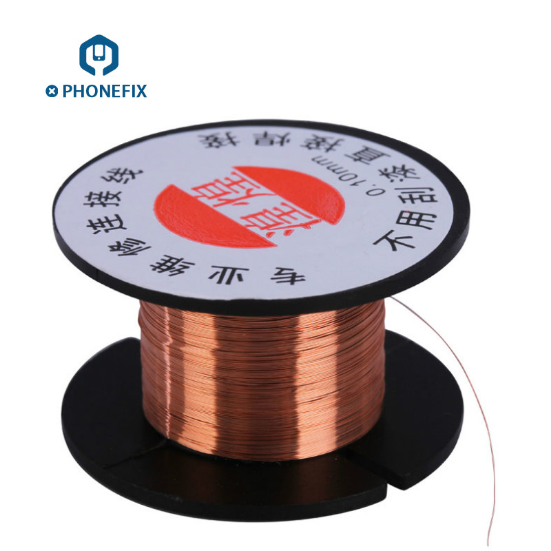PHONEFIX 0.1mm Copper Soldering Wire Maintenance Jump Line For Mobile Phone Computer Motherboard PCB Solder Repair ToolsPHONEFIX 0.1mm Copper Soldering Wire Maintenance Jump Line For Mobile Phone Computer Motherboard PCB Solder Repair Tools