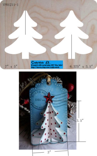 Christmas Tree Jack New Wooden Mould Cutting Dies For Scrapbooking Thickness-15.8mm MY2843