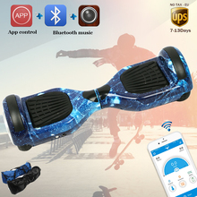 Hoverboard APP smart self balance electric overboard oxboard unicycle mini skywalker wheel on led light stand up scooter