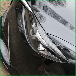Image 3 - 자동차 스타일링 ABS 헤드 라이트 눈썹 장식 커버 스티커 트림 마즈다 6 M6 Atenza 2016 2017 Exterior Decals Strips Parts