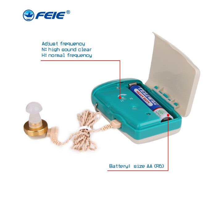 FEIE New Arrival 2018 Mini RIC Hearing Amplifier Digital Programmable Hearing Aid Free Shipping S-93 6 channel digital hearing aid invisible feie digital hearing aids headphone amplifier s 16a drop shipping