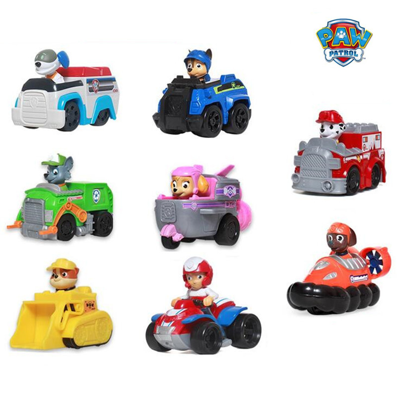 Paw patrol Puppy Patrol Dog Anime Toys Figurine Car Plastic Toy Action Figure model Children Gifts patrulla canina kids toys les enfants pj racing mission cruiser car dessin maskmm toy anime pj car big truck display jouet children bithday gift toys