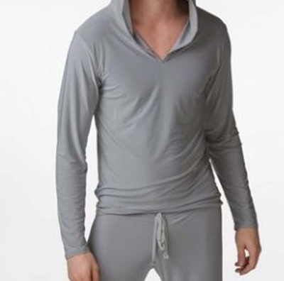 2017 Nuevo envío libre mens desgaste sexy Pijamas traje masculino casual  wear con capucha poliester sedoso 109406f3b16