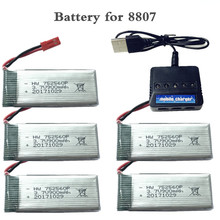 3 7V 900mah lipo Battery For 8807 8807w A6 A6W Rc Quadcopter Spare Parts 5in1 Balance