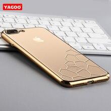 Для Apple iphone7 чехол Luxury brand Yagoo прозрачный ТПУ чехол для iphone 7 7 plus оригинальный мягкий силиконовый защитный назад(China (Mainland))