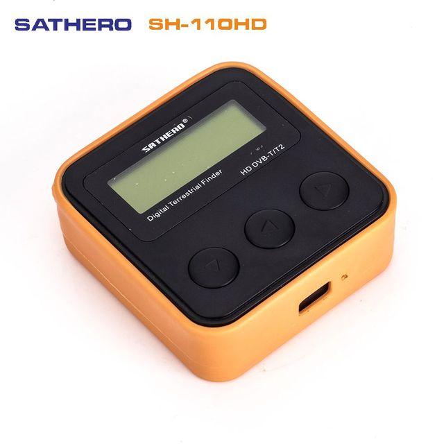 SATHERO SH 110HD lądowych detektor miernik sygnału DVB T DVB T2 cyfrowa telewizja hd wykrywacz sygnału lepiej satlink ws 6905