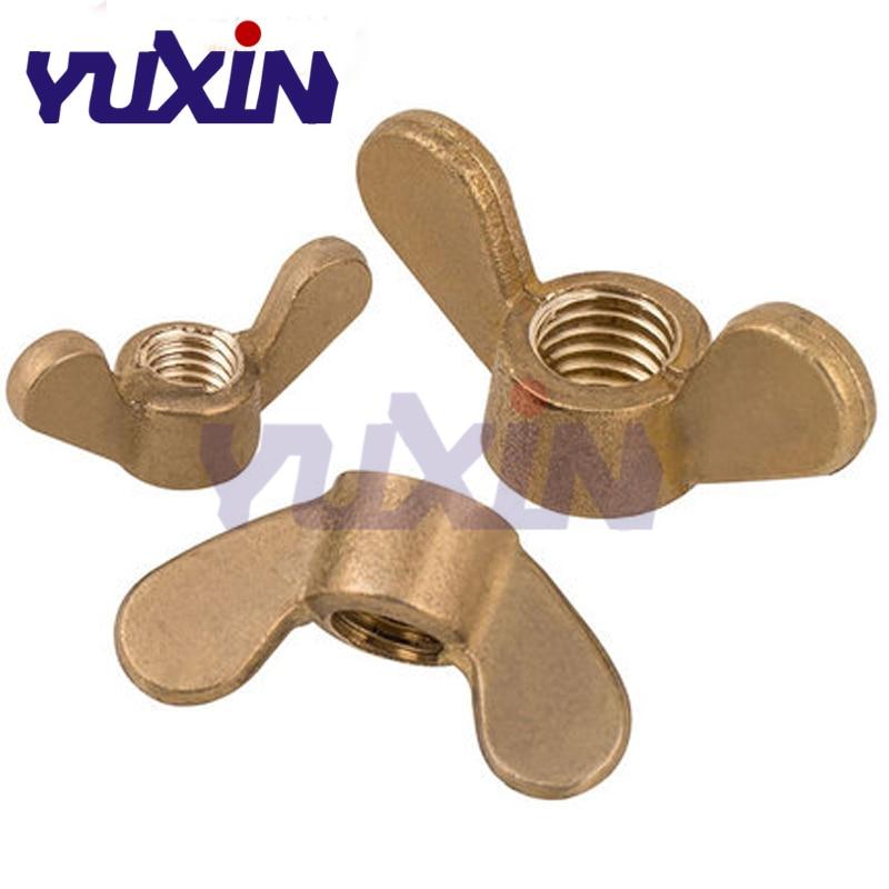 20pcs M4*0.7 M5*0.8 M6*1.0 M8*1.25 Metric Brass Knurl Nuts Fasteners