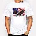 BLWHSA Мужчины Футболки Флаг США Орел Дизайн Шею Хлопка С Коротким Рукавом Фитнес Хип-Хоп Футболка Camiseta
