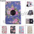 New Fashion Chinese style flower 360 Rotating Wallet card Folding Book pu leather holder cover case for ipad mini 1 mini 2 3