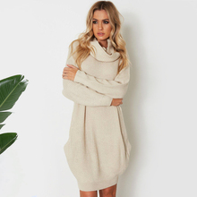 Autumn Wool Sweater Dress