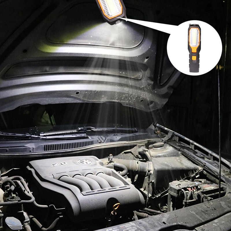 ZK20 Dropshipping COB LED luz de trabajo USB recargable trabajo Flexible magnético lámpara linterna de emergencia linterna