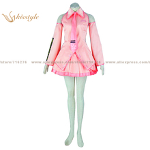 Kisstyle Fashion VOCALOID Sakura Miku Pink Uniform COS Clothing Cosplay Costume,Customized Accepted