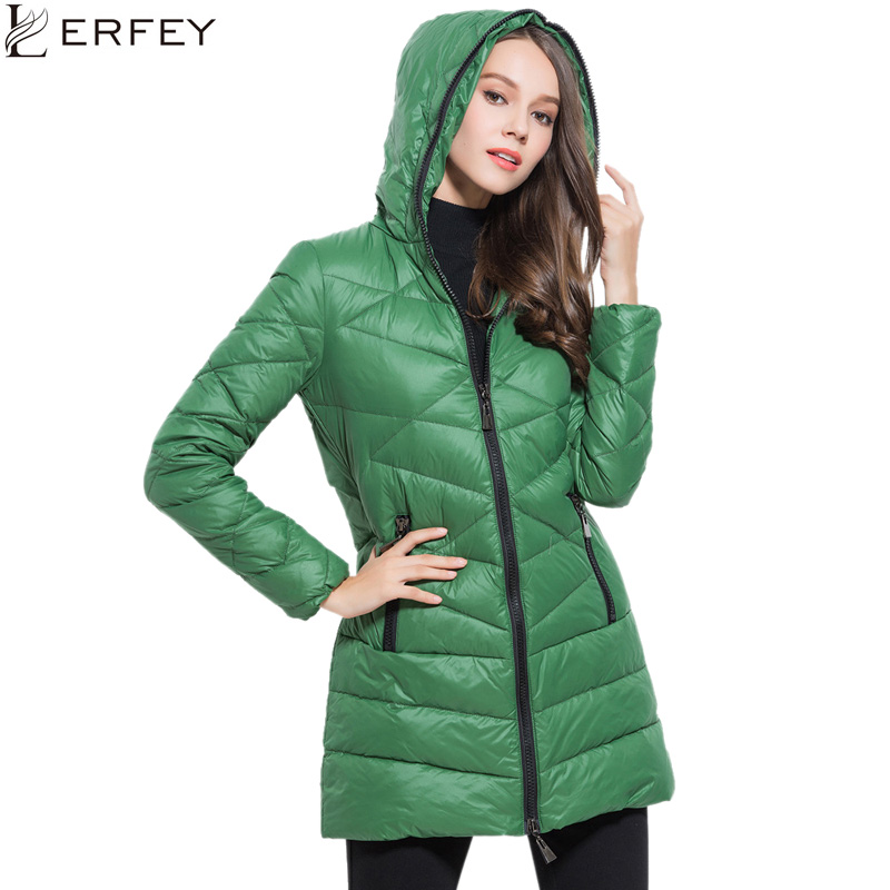 LERFEY Winter Parka Fashion Down Women Jacket Hooded Thick Warm Outwear Parkas Slim Coats Tops Ladies Casual Clothing black of toilet paper all copper toilet tissue box antique toilet paper basket american top hand cartons