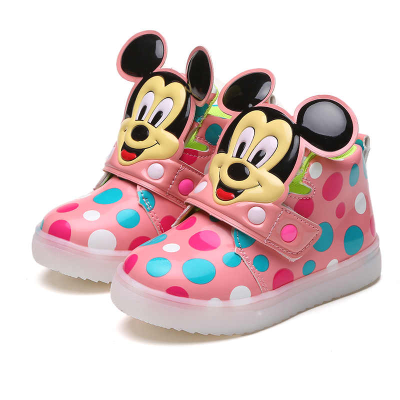 Children Shoes With Light Girls Growing Shoes Cartoon ...