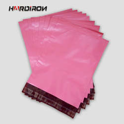 HARDIRON Pink Red color envelope packaging mailing custom size bags Courier mailer express pouches Rose Red