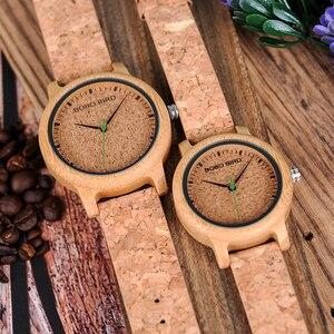 Image 4 - ボボ鳥腕時計竹カップル時計アナログディスプレイ竹素材手作り時計木製腕時計男性中国製
