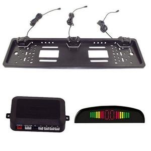 Image 3 - Trasporto Funching Auto Radar di Retromarcia Con 3 Sensori di LED di Visione Notturna Che Inverte Sensore di Parcheggio Impermeabile Rilevatore di Monitoraggio