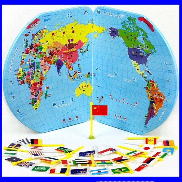 Free shipping map of the world national flag child wooden puzzle free shipping map of the world national flag child wooden puzzle three dimensional jigsaw puzzle gumiabroncs Image collections
