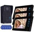 """7 """"Color de Vídeo Puerta Timbre Del Teléfono Del Sistema RFID de Control de Acceso Video Portero 3 Timbre Monitor Cámara y 5 ID tarjeta F4363A"""