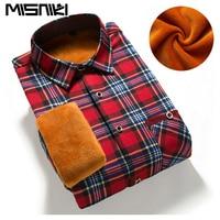 2016 Slim Fit Men Winter Long Sleeve Dress Shirt Warm Casual Vintage Corduroy Mens Formal Shirt