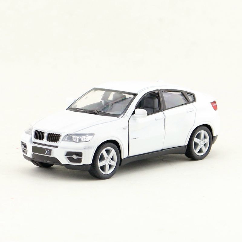 Toys & Hobbies Kinsmart Diecast Metal Model/1:38 Scale/x6 Suv Super Sport/pull Back Toy Car/educational Collection/gift For Children