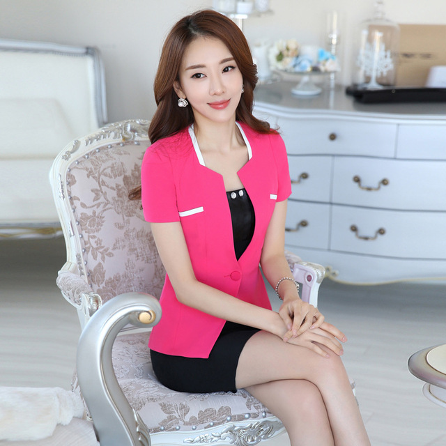 2016 Nova Primavera Outono Coreano moda mulheres ruffles saia ternos de carreira OL blazer & escritório saia do revestimento do Revestimento plus size
