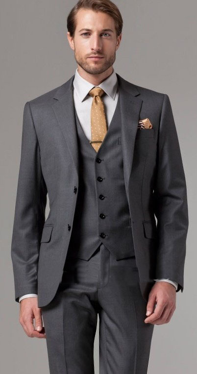Grey Wool Suit Promotion-Shop for Promotional Grey Wool Suit on ...