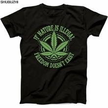 54fbf4d72 Shubuzhi Funny T Shirt Dos Homens Novos de Verão Natural Se a Natureza é  Ilegal Conjunta