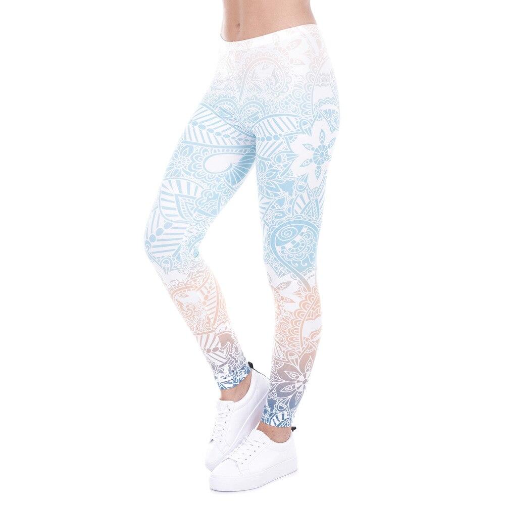 Leggings For Women 2018 Classic 3D Print Aztec Ombre Leggins Mid-Waist High Quality Elastic Pant Fitness Legging HYK-147