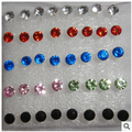 Ed445 анти-аллергия - распространение имитация алмаз серьги корейский женское ювелирные изделия оптовиков