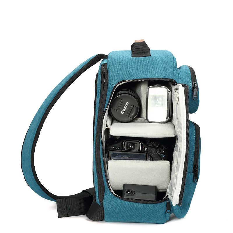 をフライリーフ FL-345 # バッグバックパックワンショルダー傾斜 Across 防水男性女性 Kamera ビデオ写真バッグ