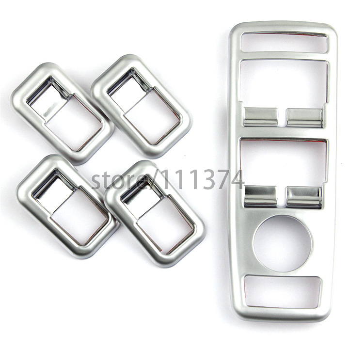 Nulla Interior Door Window Lift Regulator Button Cover Trim For Benz A B E GLK ML GLA Class ABS Car Sticker Decorative Chrome