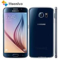 100% разблокирована samsung Galaxy S6 G920 4 г пусть мобильные телефоны Octa Core 5,1 дюймов 16MP, 3 Гб оперативной памяти, Оперативная память 32 GB Встроенная памя