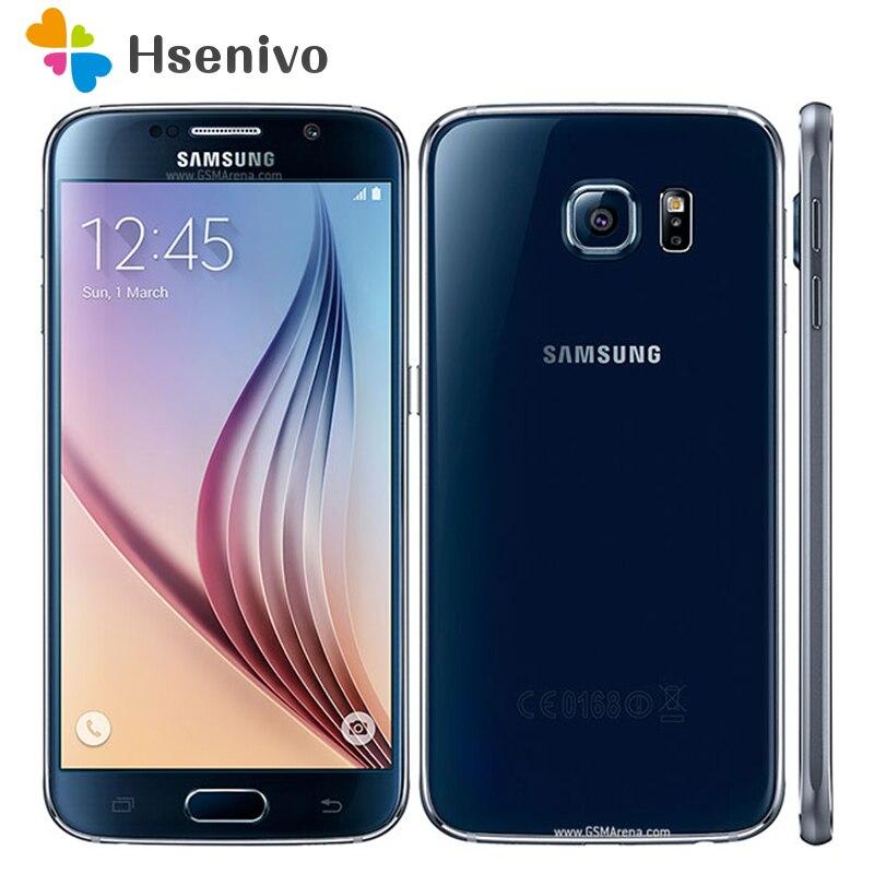 Восстановленный разблокированный Samsung S6 Galaxy S6 G920 4G LET Phone Восьмиядерный 5,1 дюймов 16 МП 3 ГБ ОЗУ 32 Гб ПЗУ оригинальный S6 смартфон