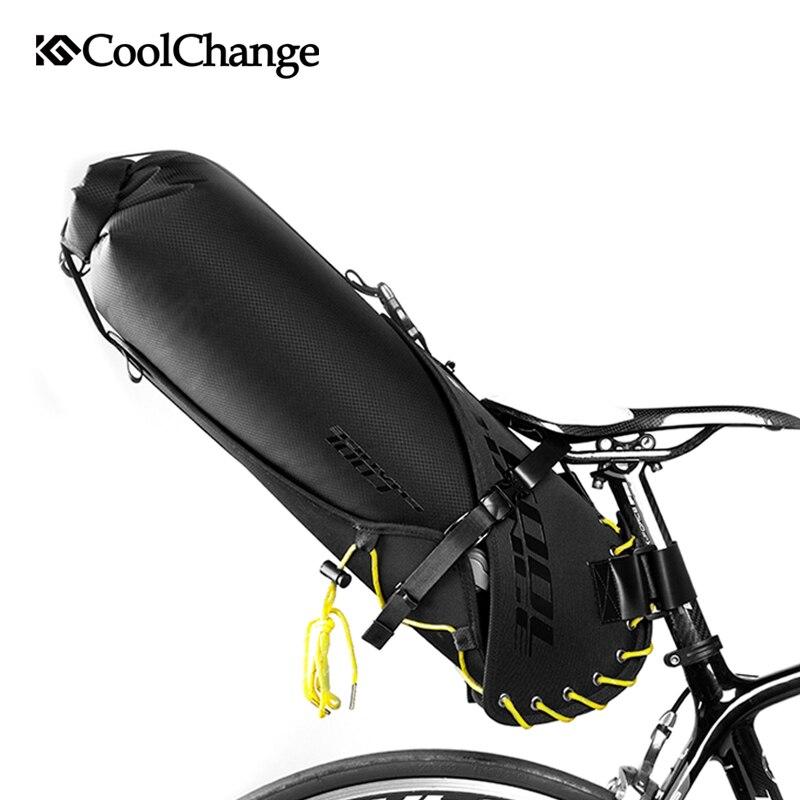 CoolChange Водонепроницаемый велосипед седло мешок большой Ёмкость складной хвост сзади велосипедов Сумка Велоспорт MTB Магистральные Паньер рю...