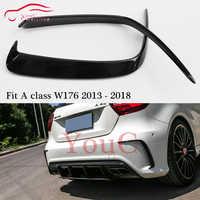 W176 Splitter Rear Bumper Canards Spoiler for Mercedes W176 A class A180 A200 A250 A45 AMG Package ABS Black 2013 - 2018