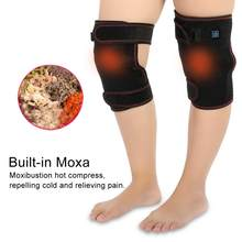 cfbbaa9944 Electric Heating Knee Pad Unisex Knee Massage Pad Pain Physiotherapy  Massager Health Care Braces Supports