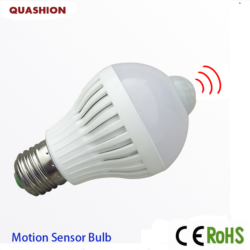 Smart PIR Motion Sensor Bulb E27 220V Led Lamp 5W 7W 9W LED Auto Infrared Body Sensor Lamp Home Lighting Garage Stairs smuxi motion sensor led light bulb e27 b22 5w 7w 12w smart pir sensor led lamp bulb auto on off night lighting ac85v 265v