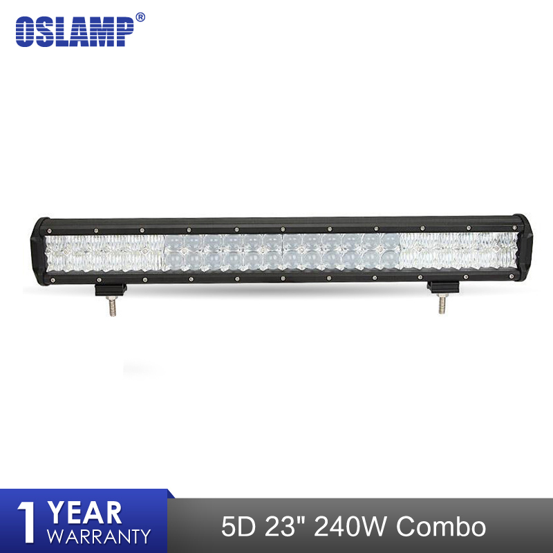 Oslamp 23 240W 5D LED Working Light Bar Spot Beam Led Work Driving Lamp Headlight For Offroad Truck SUV ATV 4x4 4WD 12v 24v 9 90w 5d led work light bar spot flood auxiliary headlight 12v 24v offroad 4wd 4x4 tractor ute truck suv atv led driving lamp