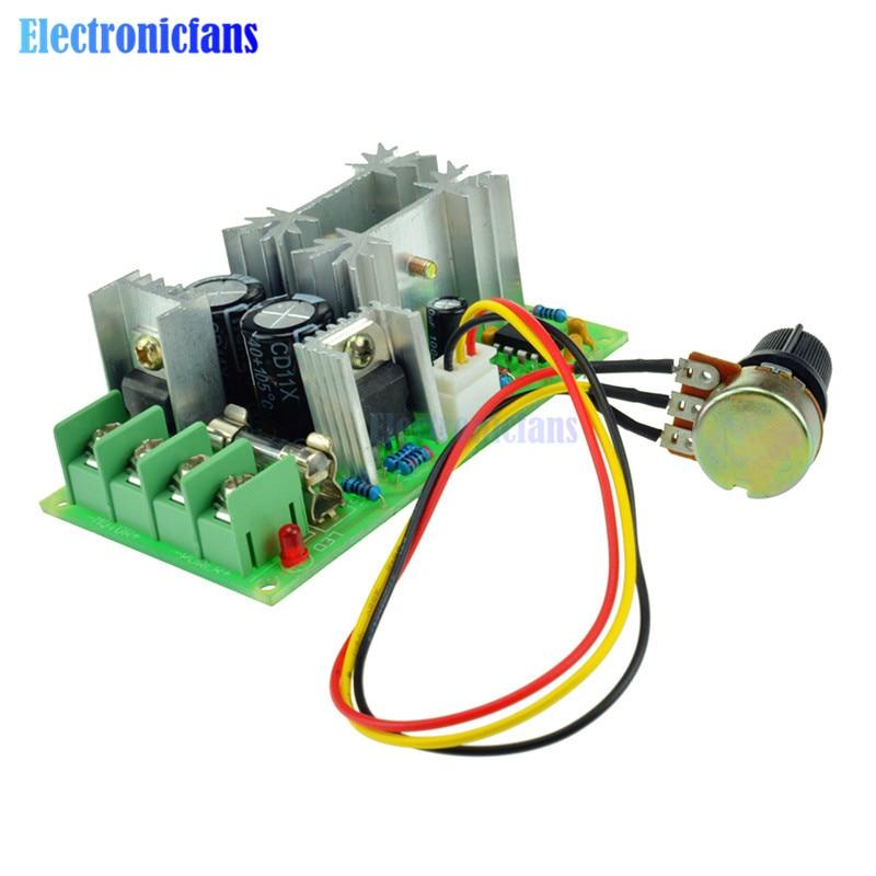 Home Improvement Dc 10-60v Pwm Motor Speed Controller Switch Dc Motor Speed Control Regulator Regulator High Power Drive Module 12v 24v 20a