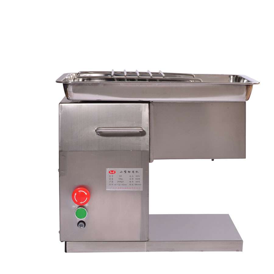 QX Stainless Steel Meat Slicer/Cutter Desktop Type Meat Cutter Meat Cutting Machine 110V/220V 2.5-10mm blade size can be chooseQX Stainless Steel Meat Slicer/Cutter Desktop Type Meat Cutter Meat Cutting Machine 110V/220V 2.5-10mm blade size can be choose