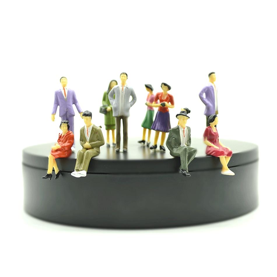 50pcs 1/30 architecture model people model Building Layout Model People Train Scale Painted Figure Passenger