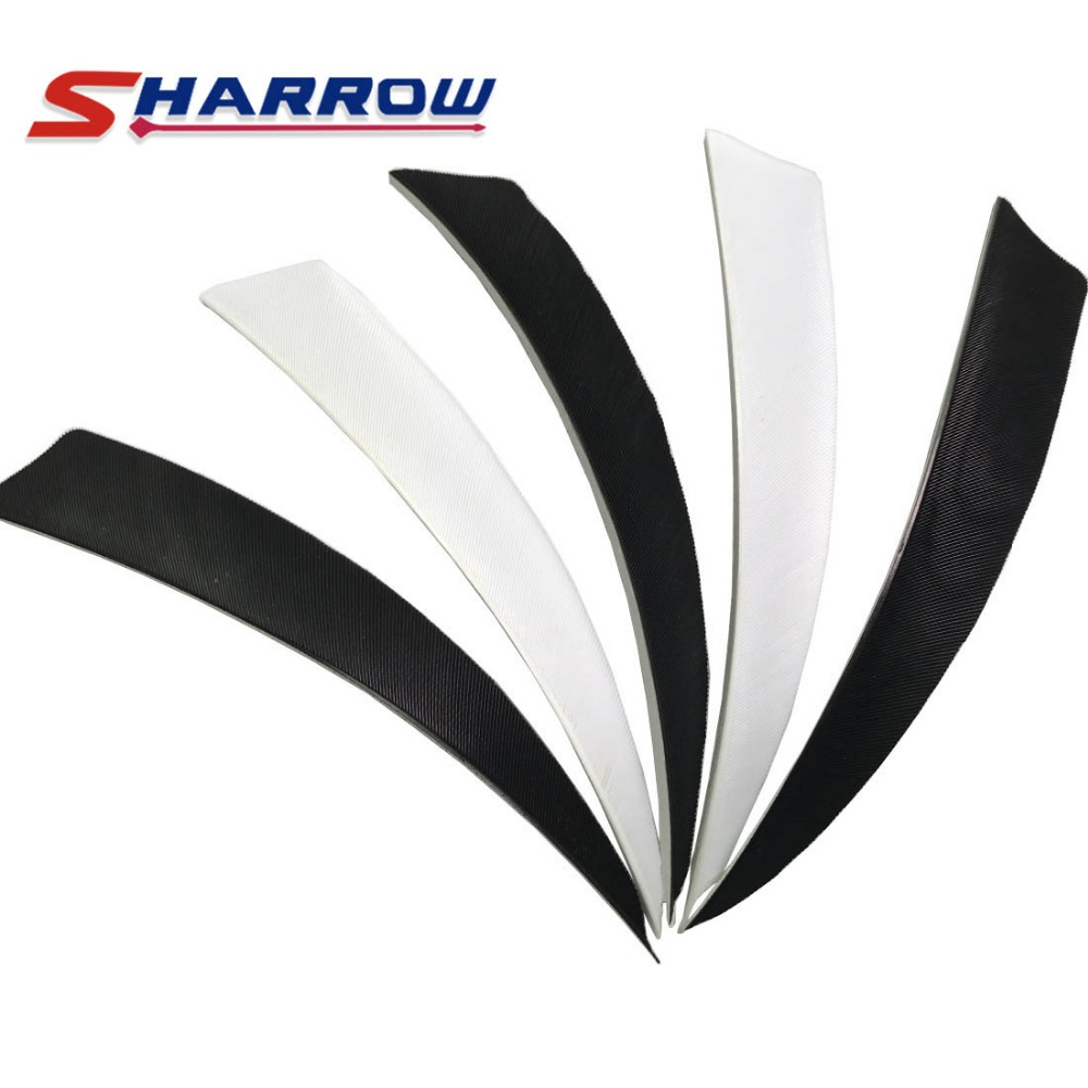40 Pieces 5inch Archery Arrow Feather Black and White Turkey Accessory