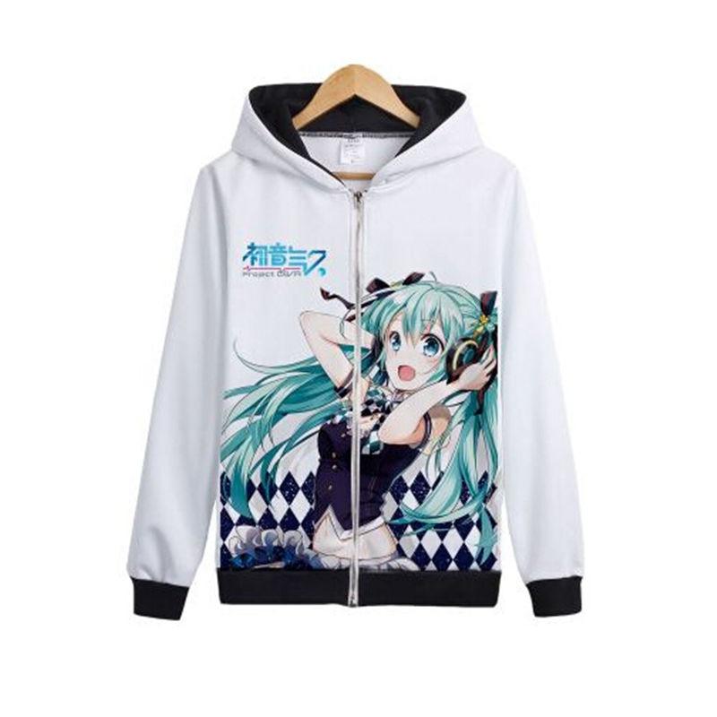 Japon Anime Hatsune Miku capuche cosplay Femmes décontracté Vocaloid Sweat femme Mignon À Capuche Kawaii Manteau
