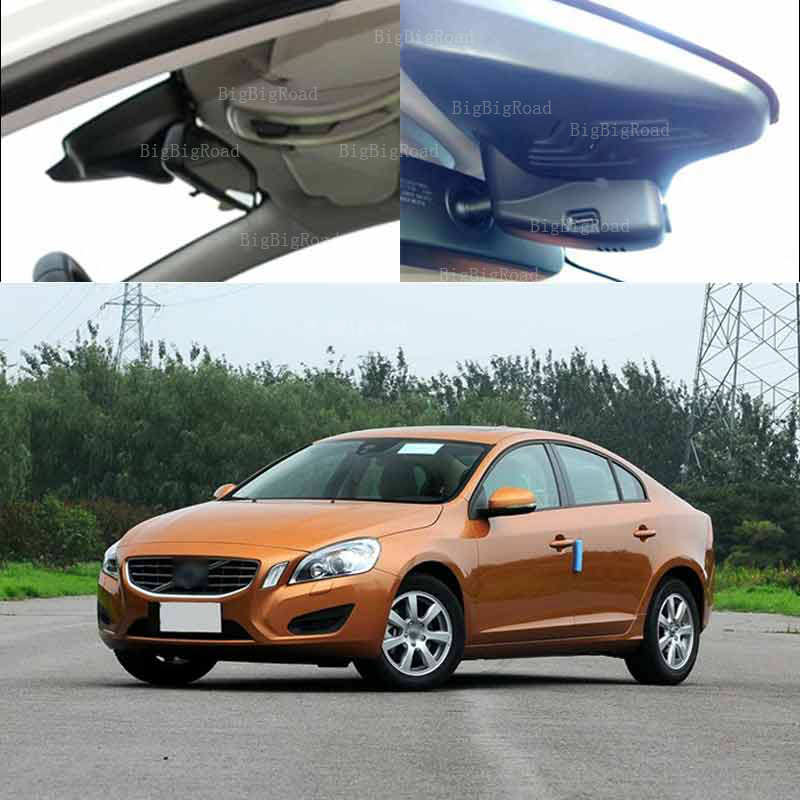 BigBigRoad For volvo s60 2012 car front camera Driving Video Recorder Car Black Box Wifi DVR Dash Cam Keep Car Original Style for honda insight car driving video recorder dvr mini control app wifi camera black box registrator dash cam original style