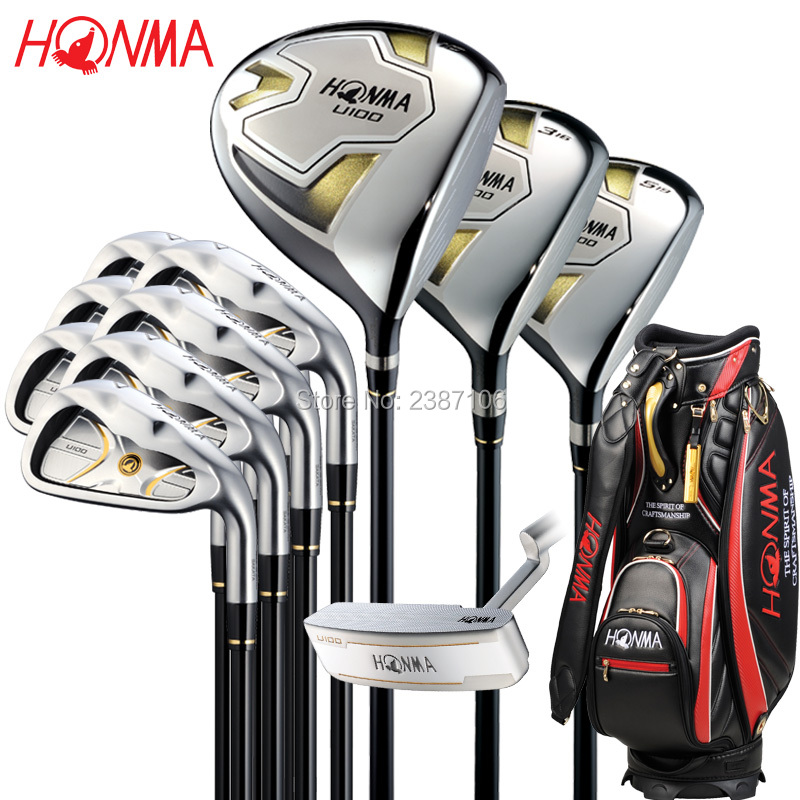 Playwell Honma U100   man   golf   full  package set   lady  golf club  set  full set mini golf club set golf ball sport abs golf club for children golf table with flag kids sport game toy gift children drop ship