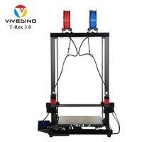 VIVEDINO T Rex 3+ 3D Printer IDEX Industrial Grade FDM 400*400*700mm Big Size Assembled Nearly