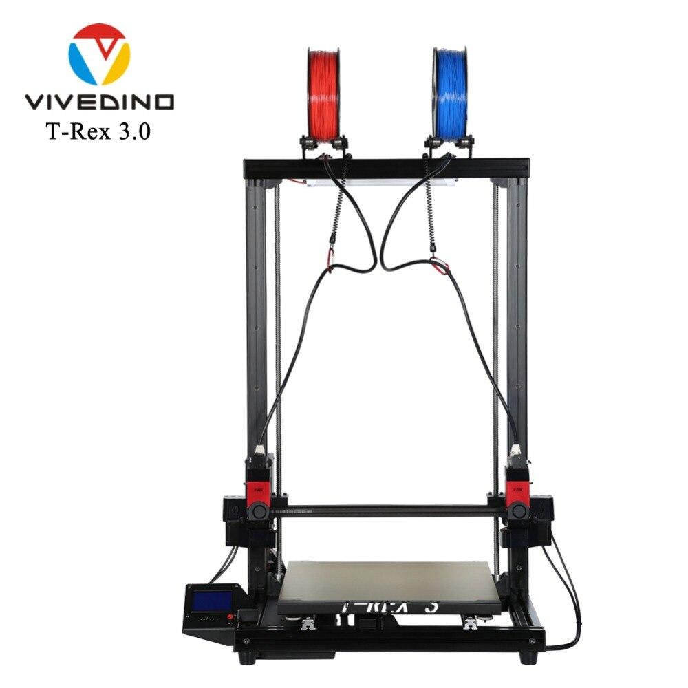 VIVEDINO T-Rex 3.0 IDEX 3D Stampante con Estesa Asse Z 400x400x700mm